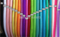 Wholesale 200pcs spiral cord protector wrap about cm cable winder holder for earphone wire charger at random