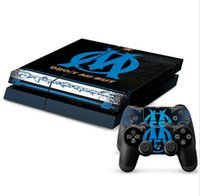 Cheap Olympique de Marseille PS4 Sticker PS4 Skin PS4 Stickers + 2Pcs Controller Skin Console Stickers PS4 Protective Skin