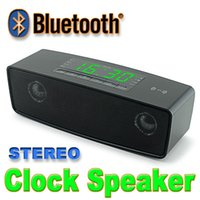 app computers - JY LED display NFC speaker bluetooth wireless outdoor speaker stereo subwoofer speaker support USB TF slot Clock APP