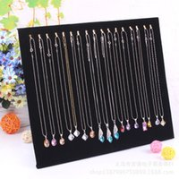 Wholesale Hook Jewelry Display Shelf Jewelry Frame Black Velvet Necklace Display Show Case Organizer Tray Stand
