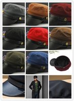 Wholesale Multicolor Polyester cap Korean new fashion Leather edge flat cap High quality Adjustable size
