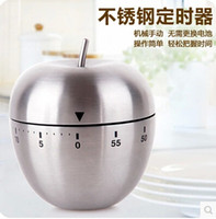 Wholesale Cute Mini Apple Mechanical New Kitchen Cooking Timer Alarm Minutes Stainless Steel Digital Timer Alarm