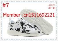 Wholesale 2014 new arrive Brand name roshe run sunset blue sky palm tree leopard FB Men s running sport shoes