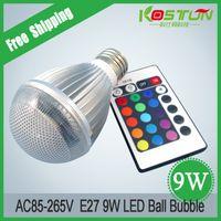 AC85-265V 9W RGB llevó el bulbo llevado del múltiplo de la iluminación 16 de múltiples funciones Proyector de KTV de las lámparas del partido de la familia con teledirigido