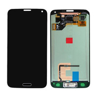 Wholesale Original Samsung Galaxy S5 i9600 G900A G900F LCD Display Screen Touch Digitizer Assembly with Home Button Flex Fully Tested Free DHL