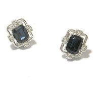 Wholesale black crystal square lady s earings xysppfh