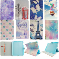 apple ipad case eiffel - Balloon House Dream Catcher Eiffel Tower Style Vogue Design Card Wallet PU Leather Flip Stand Case Cover For iPad Air Galaxy Tab T110