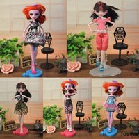 Boys doll clothes hangers - Cheapest items Dress Shoes Hangers bag Fashion Clothing For Original Monster Hight Dolls Accessories