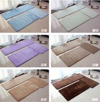 Wholesale 1set memory foam mat in the bathroom slow rebound kitchen rug living room carpet