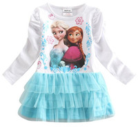 Wholesale New Arrival Popular Hot Sale Sisters Frozen Princess Dresses Girls Fashion Dress