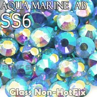 aqua marine stones - SS6 mm Aqua Marine AB Nail Rhinestones to Nails Art Glitters Crystal Decoration Non Hot Fix Rhinestone decor glass strass stone