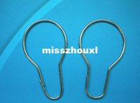 Wholesale New Chrome Plated Shower Bath Bathroom Curtain Rings Clip Easy Glide Hooks Polished Chrome Finish
