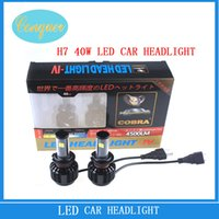 LED light hyundai parts - H7 Auto Cree LED Front Headlight Bulds W lm Waterproof DC V K K K All IN One Aluminum Beam Angle Auto Parts