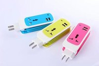 Wholesale Dual USB Port M EU US Plug in Socket Travel Charger Wall Charger Adapter For iPhone Samsung