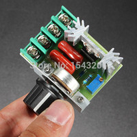 Wholesale AC V W SCR Voltage Regulator Dimming Dimmers Speed Controller Thermostat