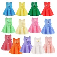 korea fashion - 13 Colors Summer Girls Lace Flower Dresses Kids Sleeveless Princess Tutu Dress Korea Fashion Cheap Party Dress childrens dancewear