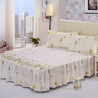 Cheap home textile single bed skirt spreads set fitted sheet sheets queen and king size bed cover 100%cotton B-36 Free shipping