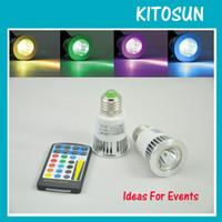 Wholesale Free Chipping W RGB Multi colors AC100 V E27 Screw scoket Spot LED Light Color Changing Led Ceiling Lighting