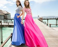 beach dress patterns - Tarik Ediz Prom Dresses Cheap Lace Long Bridesmaid Dresses With A Line Crew Neck Short Sleeves Zip Back Satin Summer Beach Wedding Dres
