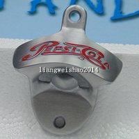 pepsi cola - 25pcs PEPSI COLA Metal Neat clean wall mounted bottle opener metal Polished Wall Mount beer Bottle openers