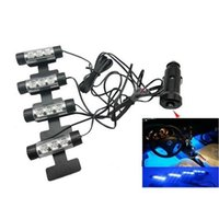 Strips all all LED ambient lighting atmosphere within the automotive supplies decorative lights light blue interior