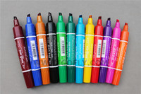 Wholesale Fly Tying Colors Double Head Waterproof Marker Pen Set