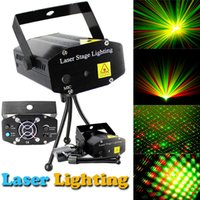 Wholesale DHL Free Hot Black Mini Projector Red Green DJ Disco Light Stage Xmas Party Laser Lighting Show LD BK