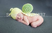 baby pictures photography - days baby suit newborn photography props Snails Hooded Wool knit baby clothing pictures months boys amp girl Baby Clothing