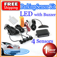 Wholesale Car LED Parking Sensor Kit Sensors mm Backlight Display Reverse Backup Radar Monitor System V Colors
