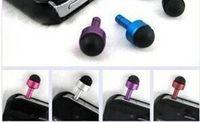 Wholesale Phone Dust Plug Pen For Headphone Hole Ear Cap Cell Phone Anti Dust Gadgets Rubber Pen Metal insulator Plug Mix Color Universal