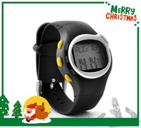 Wholesale Brand New Pulse Heart Rate Calories Counter Fitness Monitor Watch LED Sports Watches Wristwatches Exercise Touch Sensor in with packing