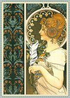 alphonse mucha paintings - Buy impression oil painting for decoration Alphonse Mucha Feder Decor