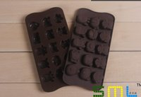 Wholesale 15 holesLove words animal cookie chocolate mold Silicone cake Ice Tray molds Cow Dog Elephant mould cupcake baking LX056