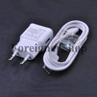 1: 1 2A Para Samsung Galaxy S2 S3 S4 Nota 2 Adaptador de Pared Cargador EU Plug ETA-U90EWE + Micro Cable de Datos USB ECB-DU4AWE