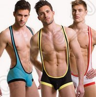 Wholesale 72PCS HHA669 Hot Sexy Mens Stretchy Singlets Mesh almost naked Wrestling Bodysuit undershirts Jumpsuit Soft undies for Male