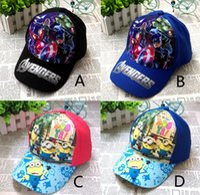 age cap - 4 Design The Avengers Despicable Me cartoon hat new children minions Avengers Age of Ultron Iron Man hat B001