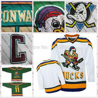 Wholesale 2016 Anniversary Sale Mighty Movie Ducks Dave Karp jersey Top Quality Hot Sale Dave Karp Ice Hockey jersey