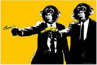 banana gun - Christmas Gift Decoration For Bedding Living Room Posters Monkeys Banana Guns Big x75cm Wall Sticker
