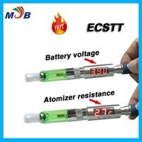 battery voltage tester - Newest E cigarette EGO Voltage Tester and E CIG Resistence VR Tester ECSTT for Evod EGO C twist Ego Battery EGO T Battery T2 T3 Reader
