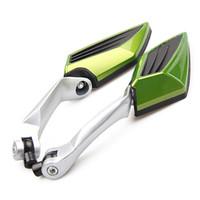 aluminum teardrop - rearview mirror Custom Aluminum Miroir de moto espelho da motocicleta Motorcycle Teardrop Side Rear View Mirrors for Cruiser bikes