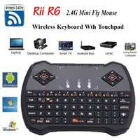 Wholesale Rii R6 fly Air Mouse GHz Wireless Game Keyboard Remote Control Touchpad for Android TV BOX Smart Mini PC Laptop Tablet HTPC Updated i8