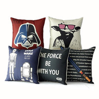 Wholesale cartoon pillowcase creative cartoon pillow case cover star wars pillowcase The Avengers superhero pillow cover american flag pillow cover