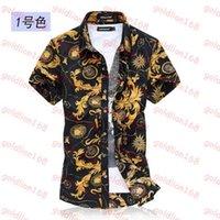 Wholesale Hot Sale Casual Shirts Men camisa social slim Clothing Cotton Short Sleeve Shirt Summer beach floral mens dress shirt camisa M XL