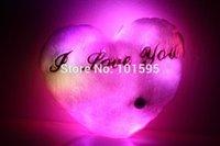 led pillow - Hot Cute Colorful Emitting Lights Pillow LED Luminous Love Heart Shape Pillow Plush Toys Birthday Anniversary Gifts