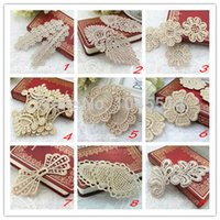 Wholesale Embroidery Lace patch embroidery flower applique lace patches hair accessory gloves material white