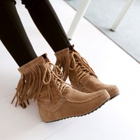 ankle booties heels - Hot sale brand new New Womens Boho Faux Suede Lace up Fringe Oxfords Moccasin Boots Ankle Booties