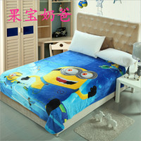 Wholesale BBA3164 minions blankets color thomas mickey car blankets sofia Doraemon princess pooh bedding sheet kid spiderman blankets gift