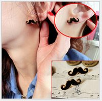 Joyería de moda de alta calidad divertidos aretes bigote personalizada chino 100pair barato