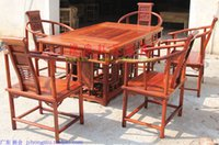 Wholesale Living room furniture dinner table luxury red sandalwood tea or coffee table chinese classicial wood desk
