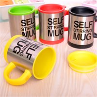 automatic drink - self stirring Coffee Cup Automatic Mixing coffee Tea cup stainless steel coffee Cup Drinking Cup Coffee mug